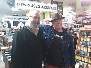 Alan Haber and Trax on Wax store owner Gary Gebler