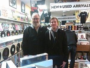 Alan Haber and musician Jacob Panic at Trax on Wax