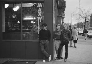 The Bongos in front of Maxwell's in Hoboken, New Jersey