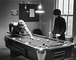 """Seven ball in the corner pocket, eh John?"""