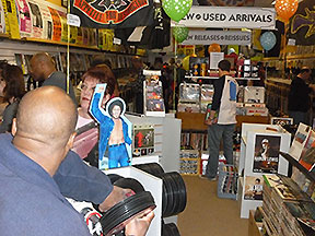 It's customer mania on Record Store Day 2014 at Trax on Wax!