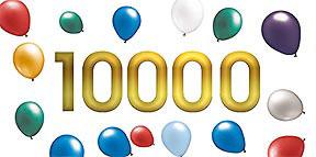 10,000 plus!
