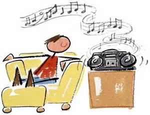 listening to music on the radio