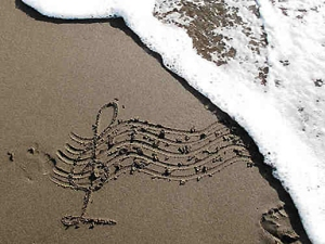 music at the beach