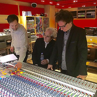 the weeklings in the studio at abbey road