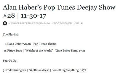 pop tunes deejay show snip 12-1-17