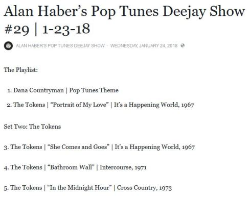 pop tunes show snip, show 29 1-23-18