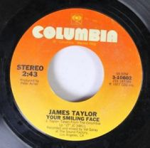 james taylor your smiling face 45 label