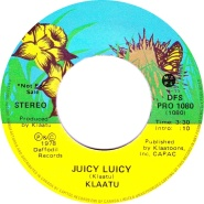 klaatu juicy luicy 45 label